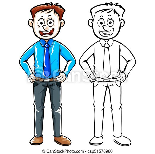 human character outline for businessman illustration clip art vector rh canstockphoto com cartoon businessman clipart businessman clipart vector