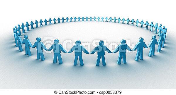Human circle - csp0053379