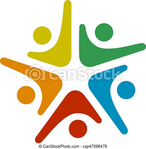 Color Tree People Symbol For Community Team Help Colorful Tree