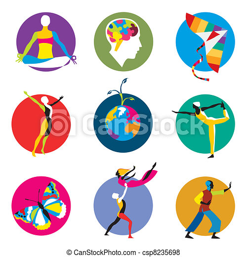 human development icons - csp8235698