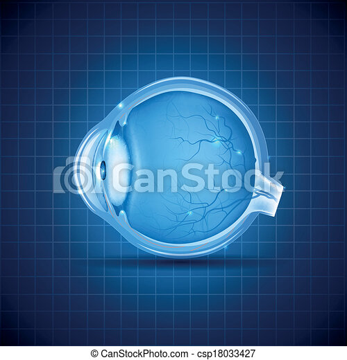 Human eye abstract blue design - csp18033427