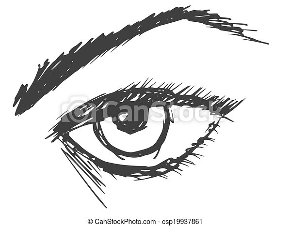 Cartoon Drawing Of An Eye