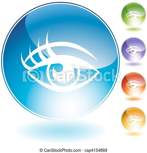 Human eye Crystal Icon Set - csp4154869
