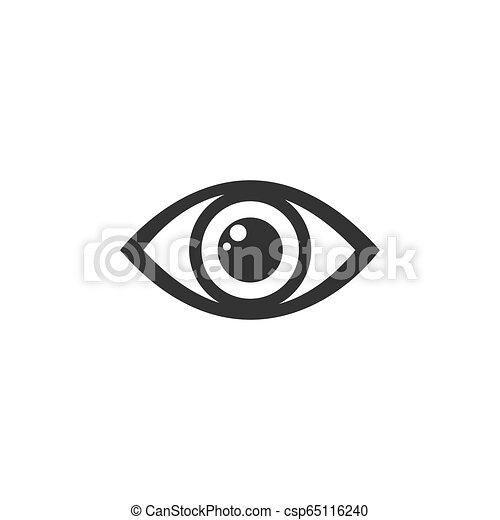 Human eye icon on a white background - csp65116240