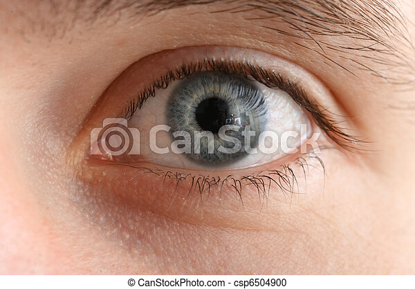 Human eye macro close-up - csp6504900