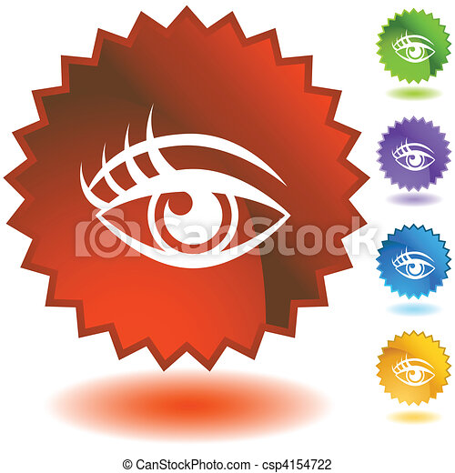 Human eye Starburst Icon Set - csp4154722