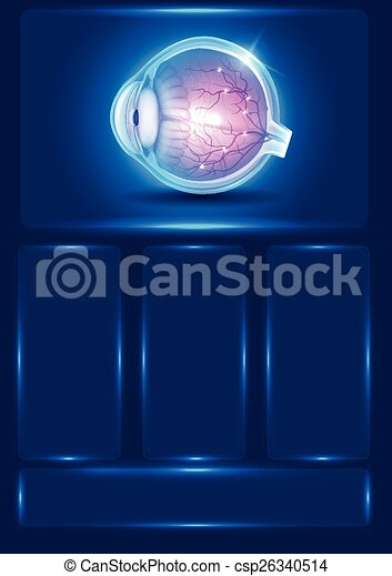 Human eye vision, abstract blue illustration - csp26340514