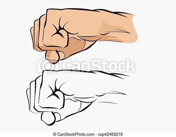 Human fist - csp42459218