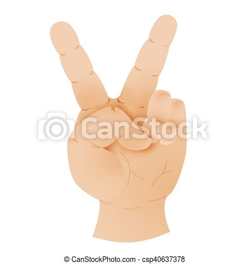 Human Hand Showing Peace Sign Human Hand Showing Peace Sign