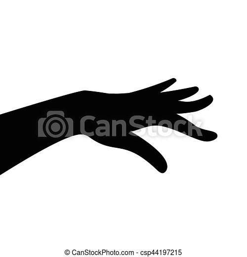 Human Hand Silhouette Vector Silhouette Of Woman Hand On White Canstock ✓ free for commercial use ✓ high quality images. https www canstockphoto com human hand silhouette 44197215 html