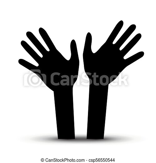 Human Hands. Vector Palm Hand Symbol. - csp56550544