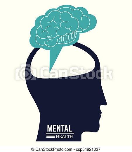 human head brain, mental health progress innovation design - csp54921037