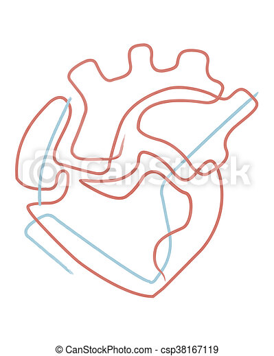 Human Heart Abstract Illustration