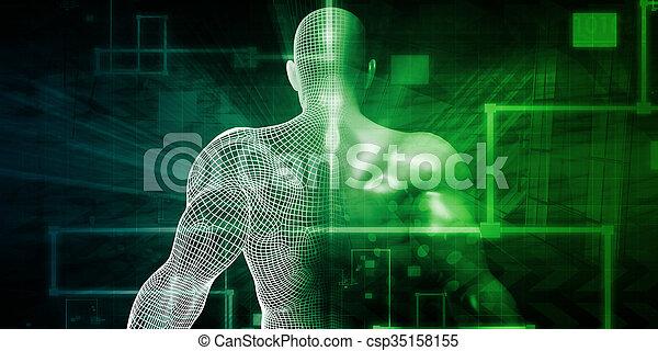 Human Implant Concept - csp35158155