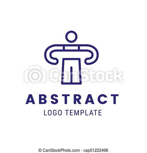 Human outline character vector logo concept template creative ...