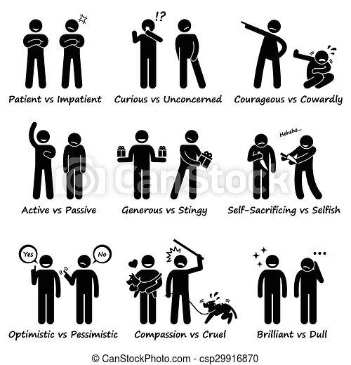 Human Personalities Opposite Values - csp29916870