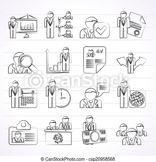 Human resource and employment icons - csp20958568