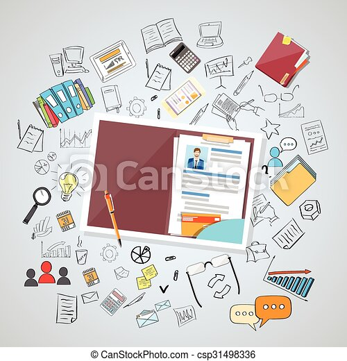 Human Resource Documents Curriculum Vitae Recruitment - csp31498336