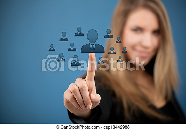 Human resources and CRM - csp13442988