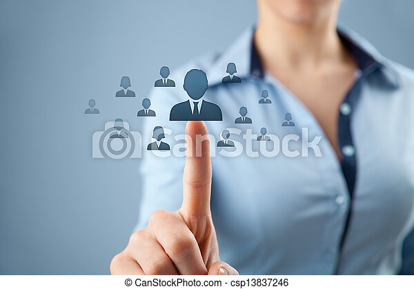 Human resources and CRM - csp13837246