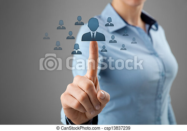 Human resources and CRM - csp13837239