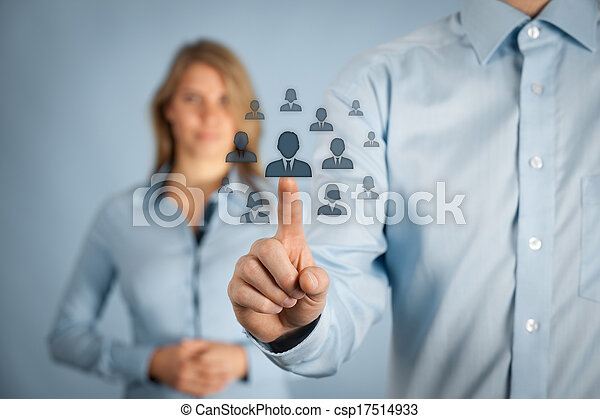 Human resources and CRM - csp17514933