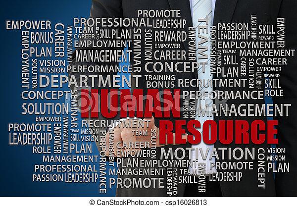 Human Resources Concept - csp16026813