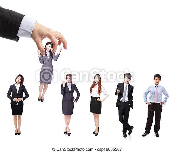 Human Resources concept - csp16085587
