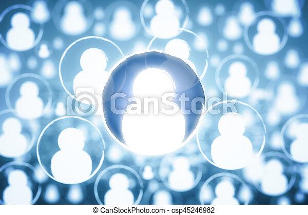 Human resources concept - csp45246982