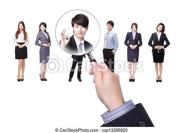 Human resources concept - csp13288820