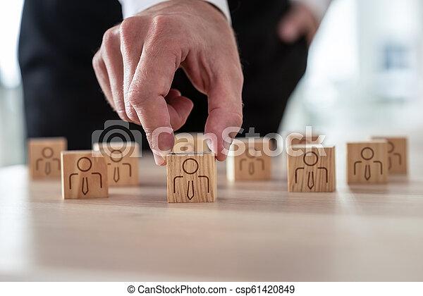Human resources concept - csp61420849