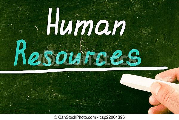 human resources concept - csp22004396