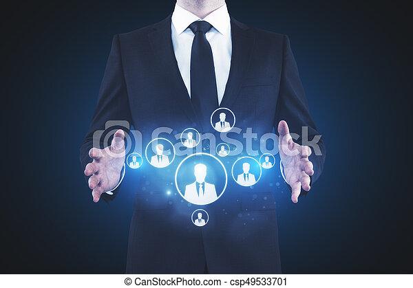 Human resources concept - csp49533701