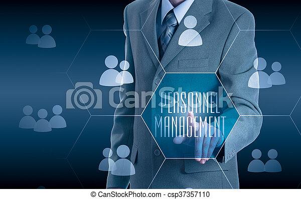 Human resources, CRM. Concept personnel management. - csp37357110