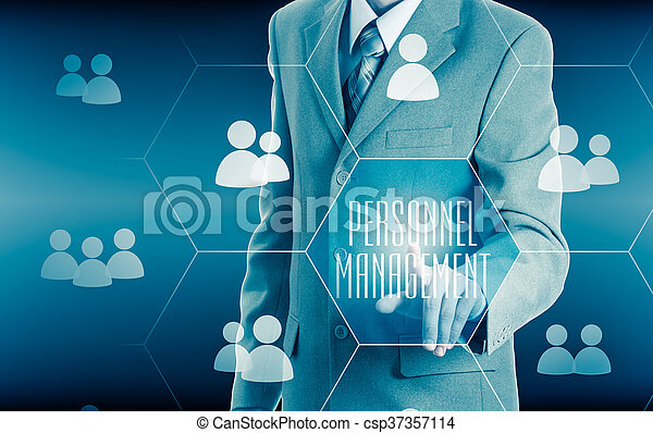 Human resources, CRM. Concept personnel management. - csp37357114