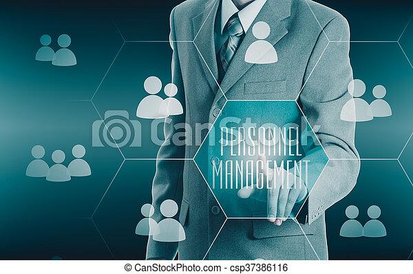 Human resources, CRM. Concept personnel management. - csp37386116