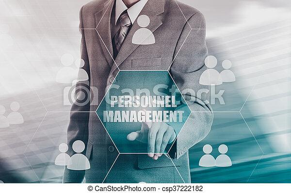 Human resources, CRM. Concept personnel management. - csp37222182