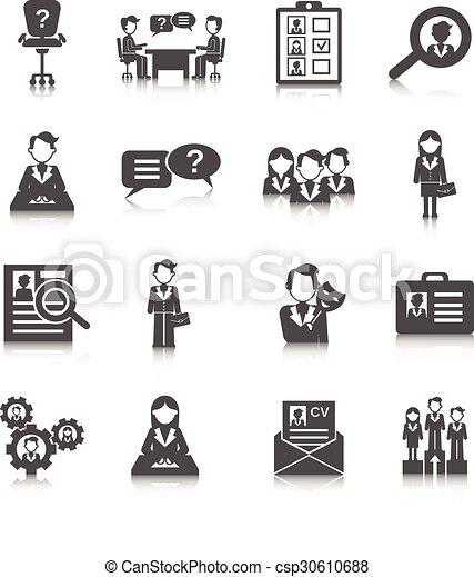 Human Resources Icon - csp30610688