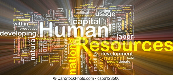 Human resources  is bone background concept glowing - csp6123506