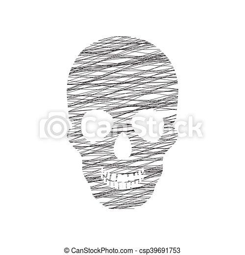 Human skull - csp39691753
