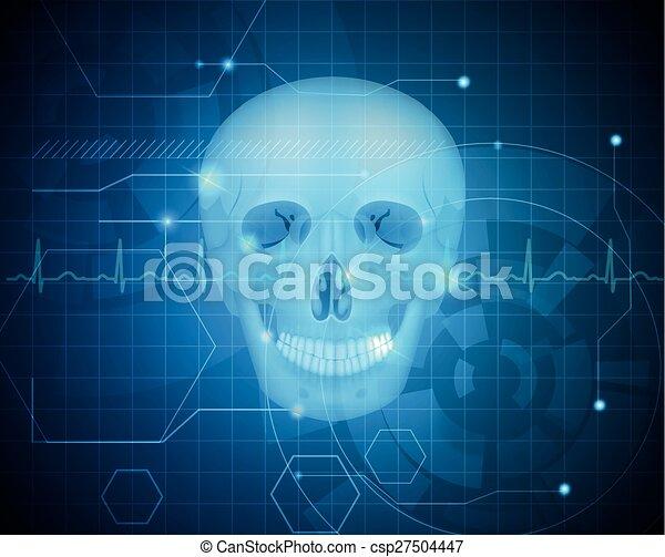 Human skull detailed anatomy - csp27504447