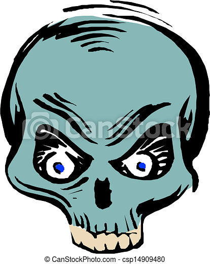 human skull  - csp14909480