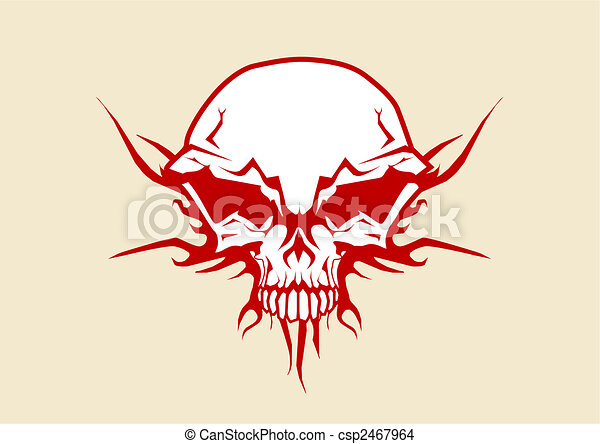 human skull  - csp2467964
