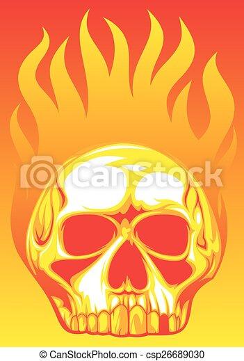 human skull  - csp26689030