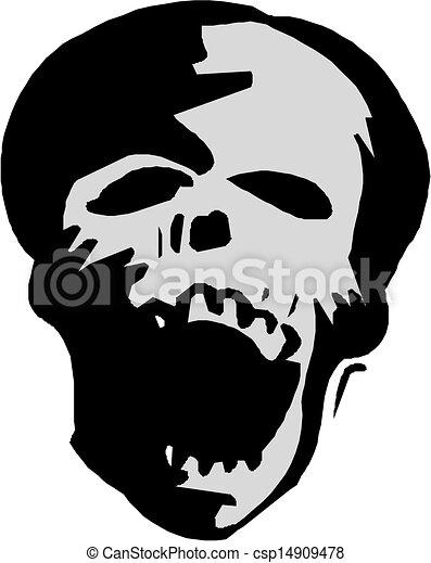 human skull  - csp14909478