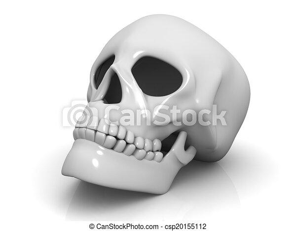 human skull isolated on white background - csp20155112