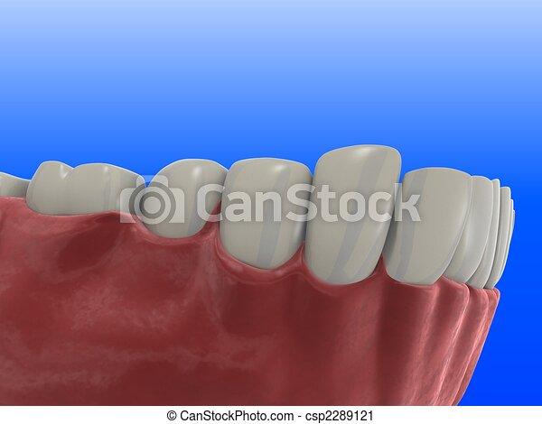 human teeth - csp2289121