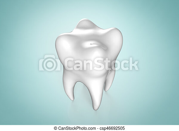 Human tooth on colorful background - csp46692505