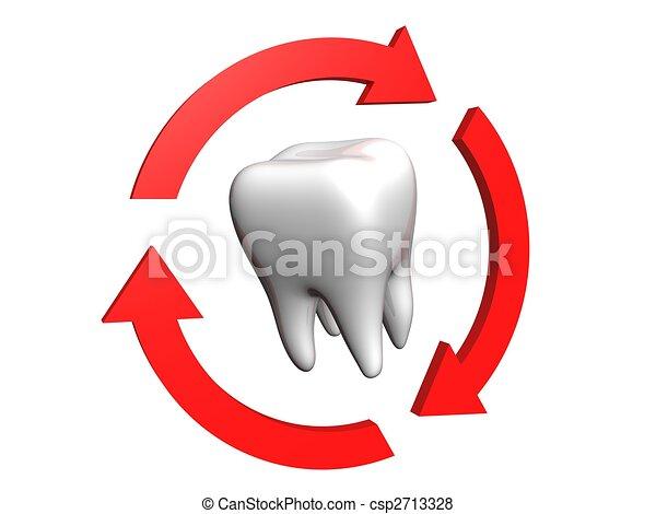 Human tooth - csp2713328