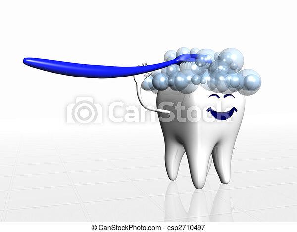 Human tooth - csp2710497